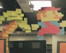 Mario comes to life with with thousands of Post It Notes in this stop motion video by Zach King