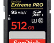 512GB SanDisk Extreme PRO SDXC UHS-I card