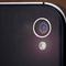 Closeup of the camera lens of a mobile phone