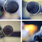 Collage of four microphones in different rooms