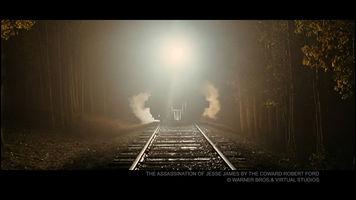 Screenshot of a train coming toward the camera