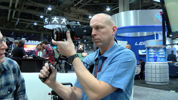 Camera operator using the Zacuto Marauder