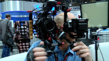 camera operator using a Zacuto Recoil rig