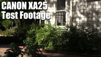 still image from Canon XA25 test footage