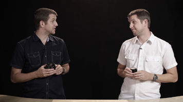 One host is shown in two different locations on screen, creating a clone effect