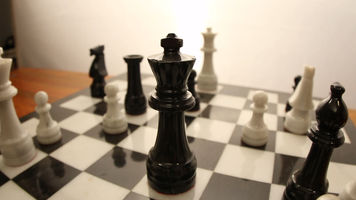 Still Frame of a Chess Board in focus