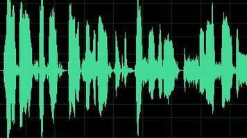 waveform audio display