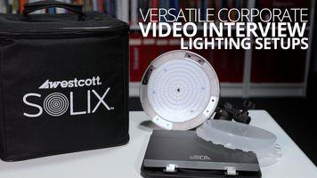 Versatile Corporate Video Interview Lighting Setups