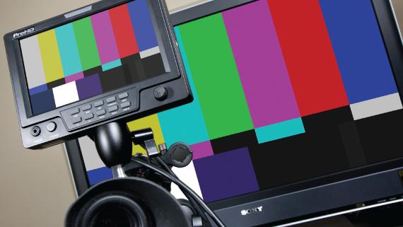 Error Screen tv tv Screen With Color Bars